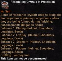 Resonating crystals protection