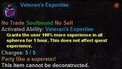 Veteran's expertise