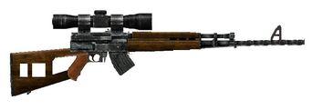 Soviet Semi-Automatic Sniper Rifle
