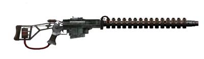 Experimental rail gun