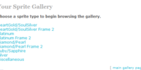 Sprite Gallery