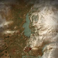 Карта Долины Каэр Морхен в игре Ведьмак 3