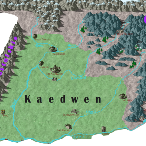 Карта Каэдвена