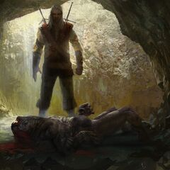 Геральт убивает Адду в облике стрыги