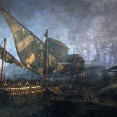 Каравелла Синих Полосок, пример людского кораблестроения
