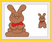 Chocolate Bunny Frames