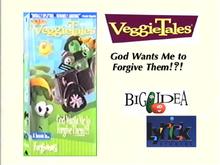 VeggieTales God Wants Me to Forgive Them VHS Lyrick Studios 1999