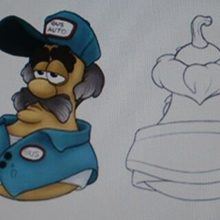 Concept art for Gus in his mainstreet outfit.