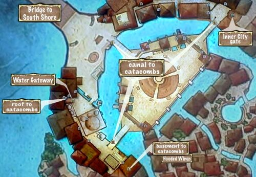 Map of Outer City Catacomb Entrances