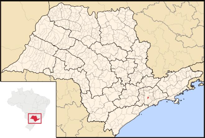 Mapa de Diadema em São Paulo