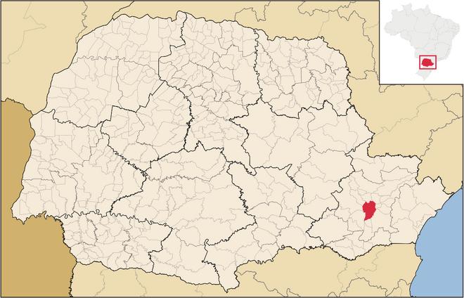 Mapa de Curitiba no Paraná
