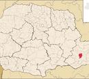 Curitiba no mapa