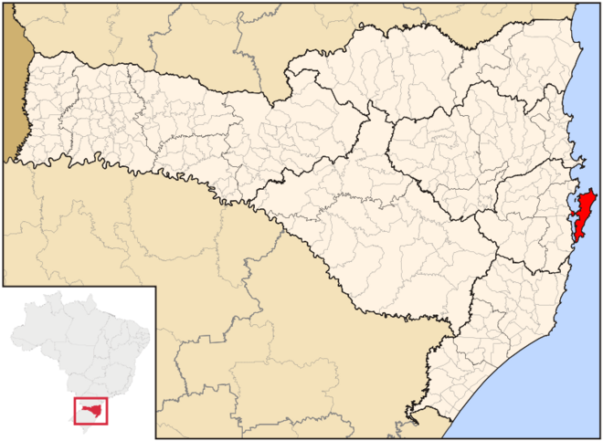Mapa de Florianópolis em Santa Catarina