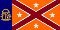 Georgia State Flag Proposal No 20c Designed By Stephen Richard Barlow 24 NOV 2014 at 1253 hrs cst