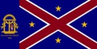 Georgia State Flag Proposal No 14 Designed By Stephen Richard Barlow 25 AuG 2014 at 1648hrs cst