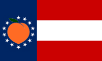 Georgia State Flag Proposal No 15 Designed By Stephen Richard Barlow 26 AuG 2014 at 2049hrs cst