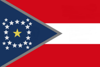 Alabama State Flag Proposal New Stars and Bars Constellation (F) Designed By Stephen Richard Barlow 12 NOV 2014 at 1104 hrs cst
