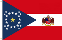 Alabama State Flag Proposal New Stars and Bars Constellation (Ia) Designed By Stephen Richard Barlow 12 NOV 2014 at 1131 hrs cst