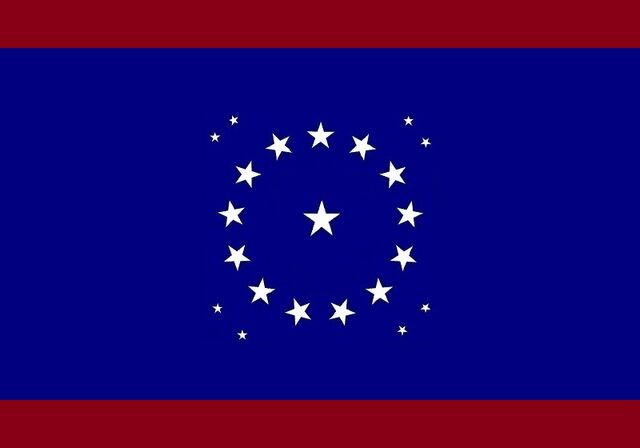 File:Alabama State Flag Proposal Crimson Blue Crimson 22 Star Madallion Designed By Stephen Richard Barlow 25 July 2014.jpg