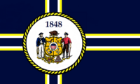 Wisconsin State Flag Proposal No 5 Designed By Stephen Richard Barlow 06 OCT 2014 at 1327hrs cst