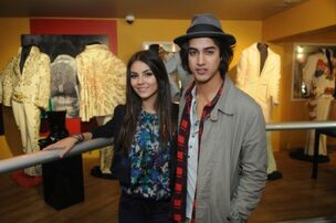 Victoria justice ad avan jogia with elvis jumpsuits