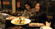 Eating sushi togather