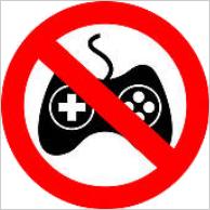 File:No gaming sign.png