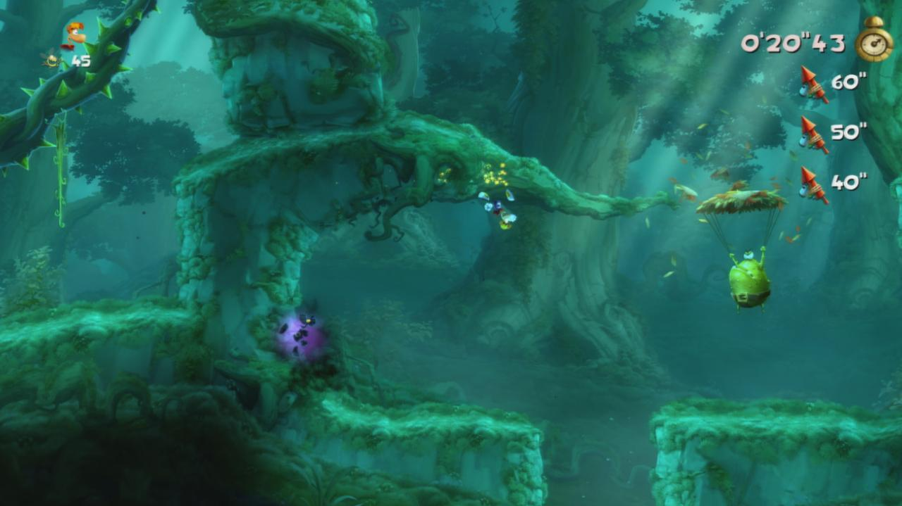 Rayman Legends Walkthrough Teensies in Trouble - Enchanted Forest (Invasion)