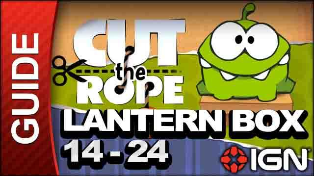 Cut the Rope - Lantern Box 3-Star Walkthrough - Level 14-24