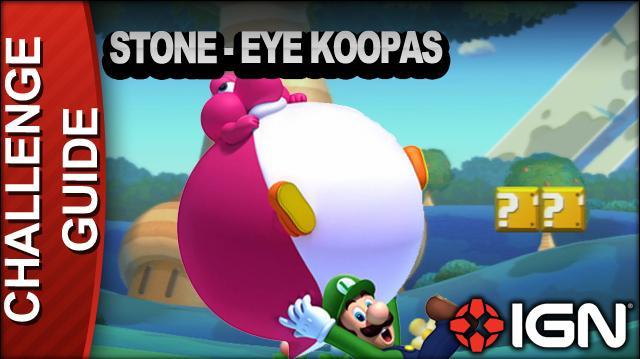 New Super Mario Bros. U Challenge Walkthrough - Stone-Eye Koopas