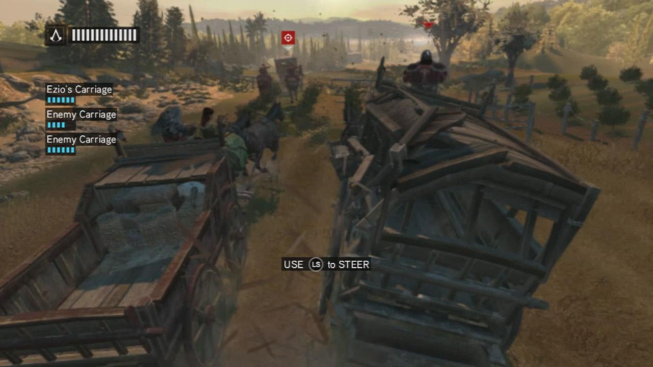 Assassin's Creed Revelations - Horse Carriage Brawl - Gameplay