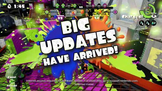 Splatoon Big Update Trailer