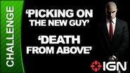 Hitman Absolution Challenge Guide - Run for Your Life Picking on the New Guy Death From Above