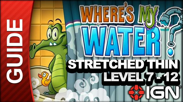Where's My Water? Stretched Thin - Level 7-12 Hot Air Balloon - Walkthrough