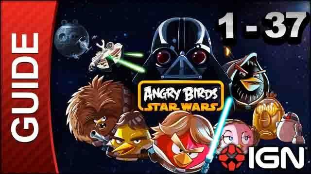 Angry Birds Star Wars Tatooine Level 1-37 3 Star Walkthrough
