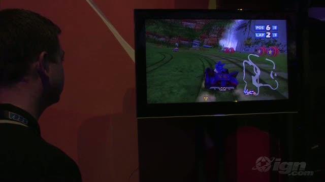 Sonic & SEGA All-Stars Racing with Banjo Kazooie Xbox 360 Gameplay - E3 2009 Mega Sonic (Off-Screen)