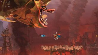 Rayman Legends Walkthrough Teensies in Trouble - Breathing Fire!