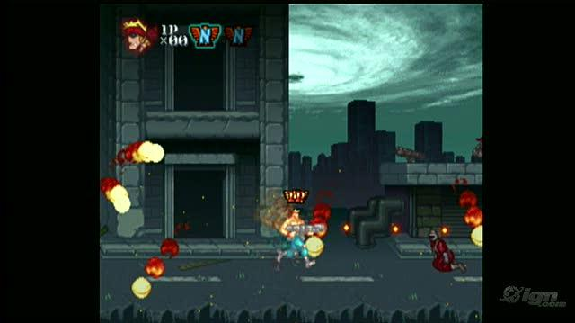 Contra ReBirth Nintendo Wii Gameplay - Level 2 Base