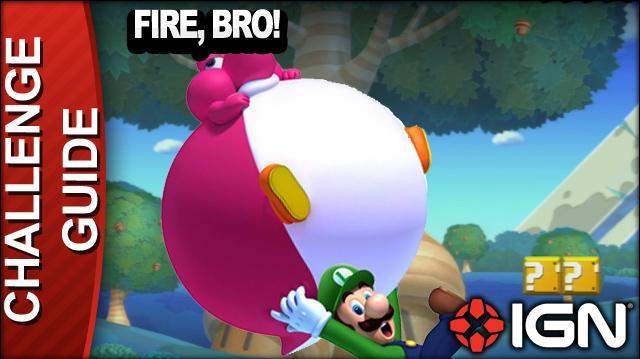 New Super Mario Bros. U Challenge Walkthrough - Fire, Bro!
