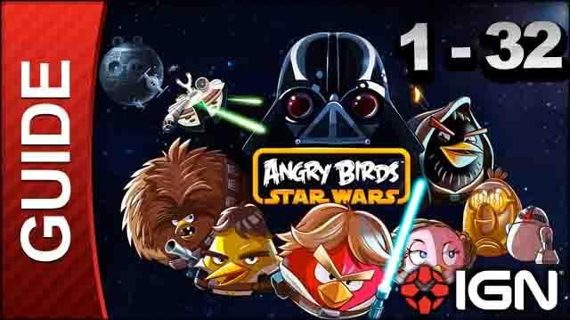 Angry Birds Star Wars Tatooine Level 1-32 3 Star Walkthrough