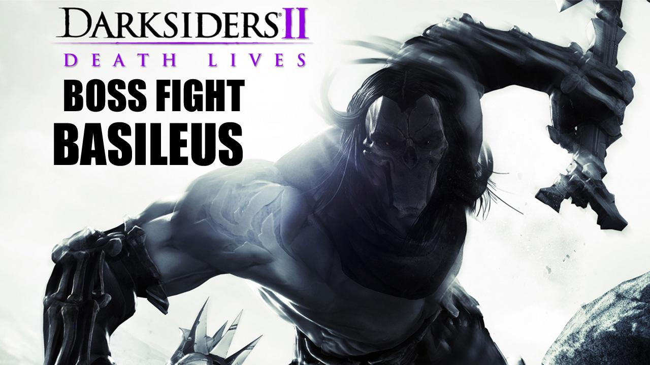 Darksiders II Boss Fight Basileus & Achidna - Gameplay