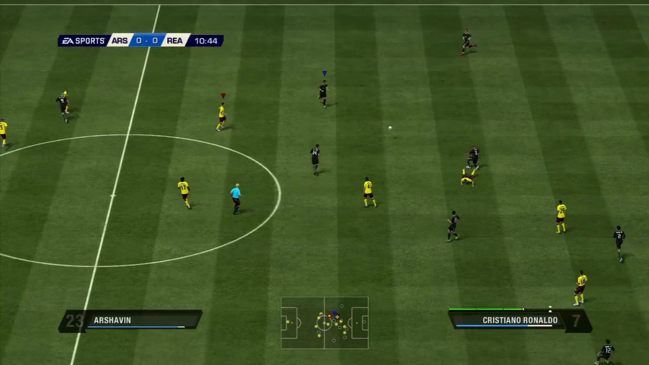 FIFA 11 Arsenal vs. Real Madrid Gameplay