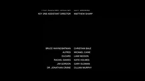 Batman Begins - end credits Part 2
