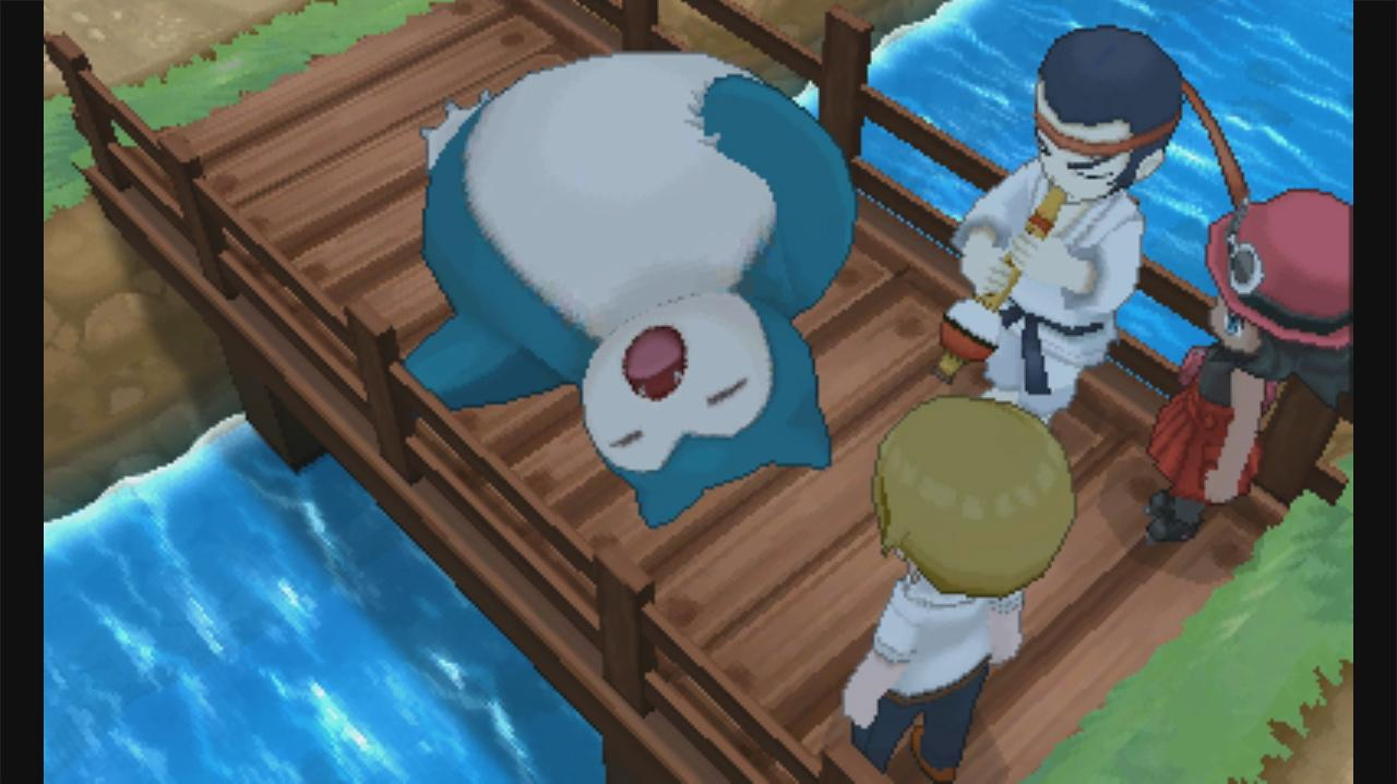 Pokemon X and Y Walkthrough Route 7 - Waking up Snorlax