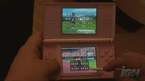 Mario & Sonic at the Olympic Games Nintendo DS Gameplay - Mario Shoots (Off Screen)