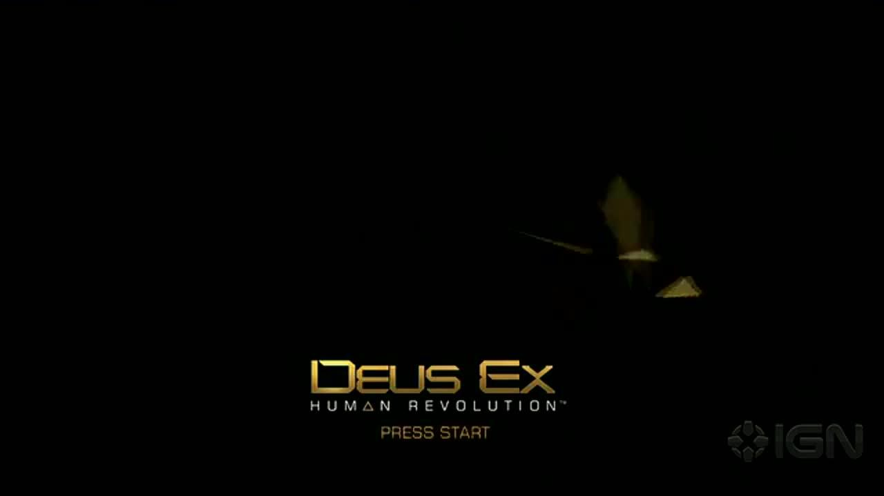 Deus Ex Human Revolution Title Screen