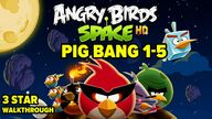 Angry Birds Space Pig Bang Level 1-5 3-Star Walkthrough