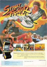 Street Fighter game flyer
