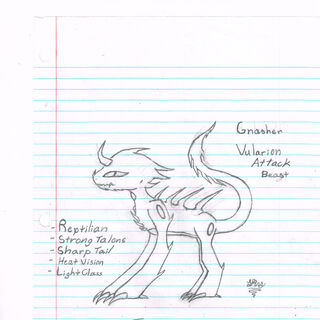A rough design of the Vul's lightest class, the Gnasher.
