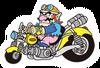Brawl Sticker Wario & Bike (WarioWare MMG)